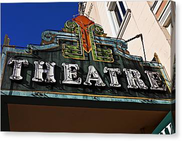 Old Movie Theatre Sign Canvas Print by Garry Gay