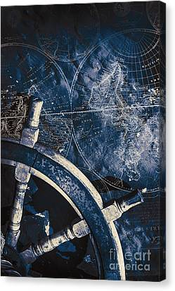 Old Nautical Navigation Canvas Print