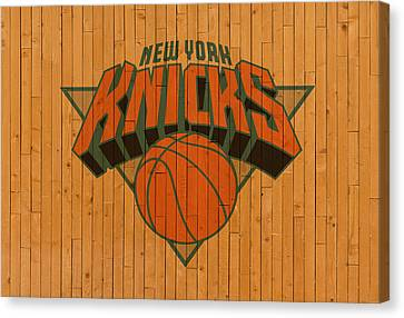 Old New York Knicks Basketball Gym Floor Canvas Print by Design Turnpike