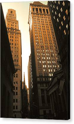 Old New York Wall Street Canvas Print