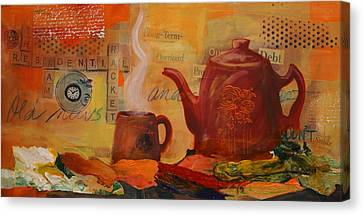 Old News And Breakfast Canvas Print by Lynn Chatman