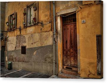 Canvas Print featuring the photograph Old Nice - Vieille Ville 008 by Lance Vaughn