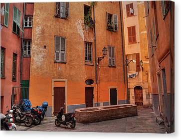 Canvas Print featuring the photograph Old Nice - Vieille Ville 010 by Lance Vaughn