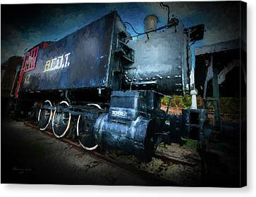 Old Trains Canvas Print - Old No. 12 by Marvin Spates