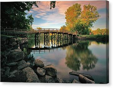 Old North Bridge Canvas Print by Rick Berk