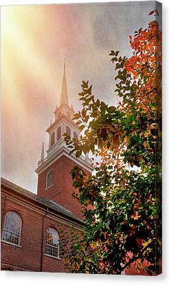 Canvas Print featuring the photograph Old North Church - Boston by Joann Vitali