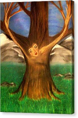 Old Oak Tree Canvas Print
