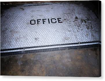 Old Office- Urban Photography By Linda Woods Canvas Print by Linda Woods