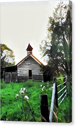 Old School Houses Canvas Print - Old One Room School House 2 by Lisa Lemmons-Powers