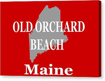Canvas Print featuring the photograph Old Orchard Beach Maine State City And Town Pride  by Keith Webber Jr