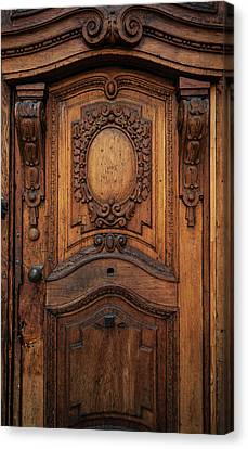 Old Ornamented Wooden Doors Canvas Print