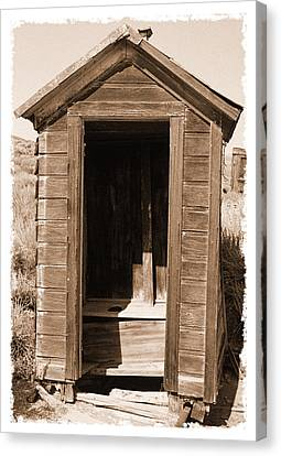 Old Outhouse In Bodie Ghost Town California Canvas Print