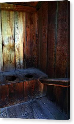 Old Outhouse Canvas Print by Joanne Coyle