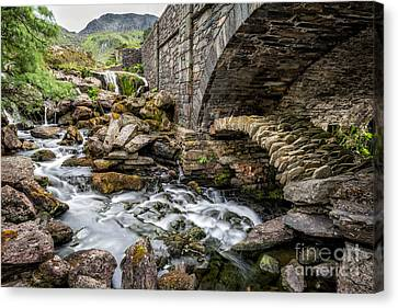 Cwm Idwal Canvas Print - Old Packhorse Bridge  by Adrian Evans