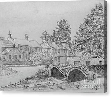 Old Packhorse Bridge Wycoller Canvas Print by Anthony Lyon