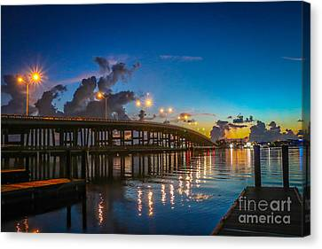 Old Palm City Bridge Canvas Print by Tom Claud