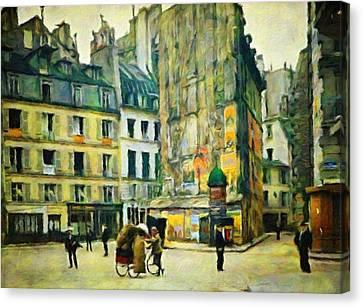 Old Paris Canvas Print by Vincent Monozlay