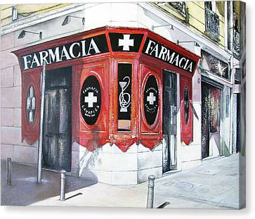 Old Pharmacy Canvas Print by Tomas Castano