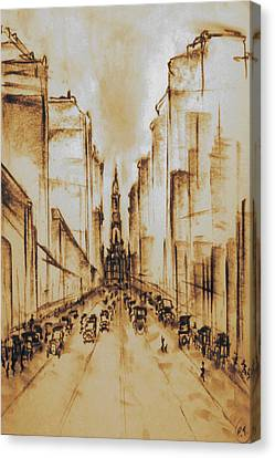 Philly Canvas Print - Old Philadelphia City Hall 1920 by Art America Gallery Peter Potter