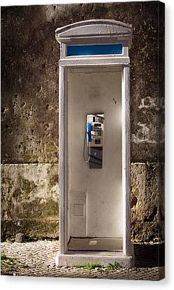 Old Phonebooth Canvas Print by Carlos Caetano