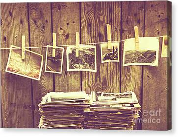 Old Photo Archive Canvas Print