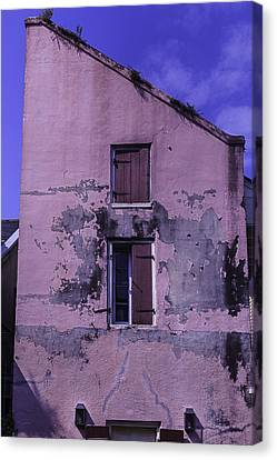Old Pink Building Canvas Print by Garry Gay