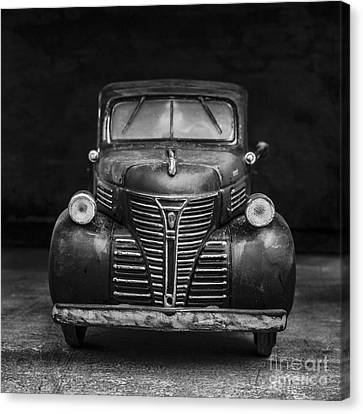 Old Trucks Canvas Print - Old Plymouth Truck Square by Edward Fielding