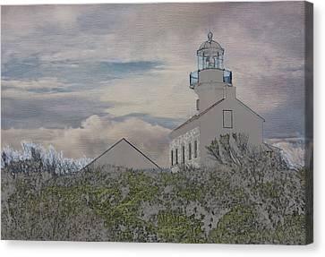 Old Point Loma Lighthouse Canvas Print by Linda Dunn