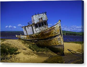Old Point Reyes Boat Canvas Print by Garry Gay