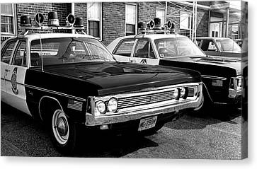Old Police Car Canvas Print