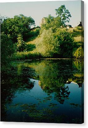 Canvas Print featuring the photograph Old Pond by Kathleen Stephens
