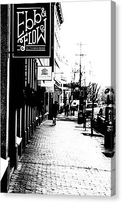 Old Port Black And White Canvas Print by Victory  Designs
