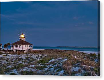 Old Port Boca Grande Lighthouse Canvas Print by Rich Leighton