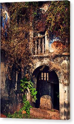 Old Portuguese House. Goa. India Canvas Print by Jenny Rainbow