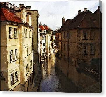 Old Prague Canvas Print by Jo-Anne Gazo-McKim