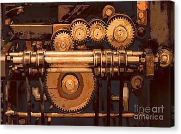 Old Printing Press Canvas Print