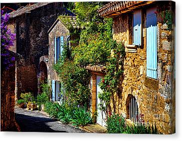 Old Provencal Village Street Canvas Print by Olivier Le Queinec