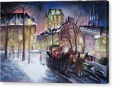 old Quebec Canvas Print by Peter Suhocke