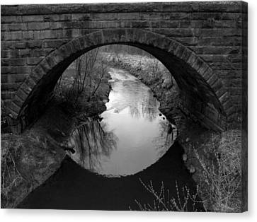 Old Railroad Bridge Canvas Print by Michael L Kimble