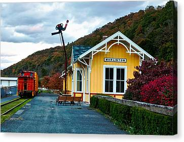 Old Railway Depot Canvas Print by Mountain Dreams