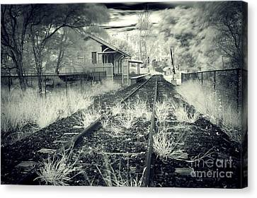 Old Railway Station  Canvas Print by Gwenda  Harvey