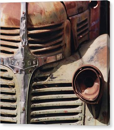 Old Ranch Truck Canvas Print by Art Block Collections