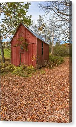 Old Red Barn Woodstock Vermont Canvas Print