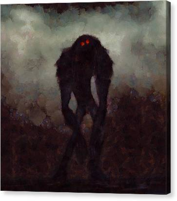 Old Red Eyes Canvas Print by Esoterica Art Agency