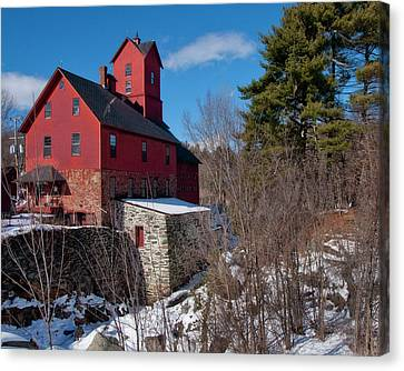 Canvas Print featuring the photograph Old Red Mill - Jericho, Vt. by Joann Vitali
