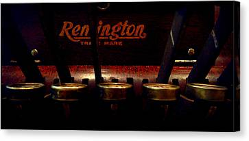 Old Remington Cash Register Canvas Print by Lori Seaman