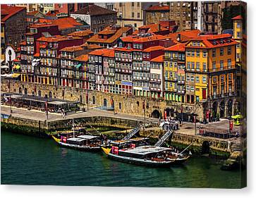 Old Ribeira Porto  Canvas Print by Carol Japp
