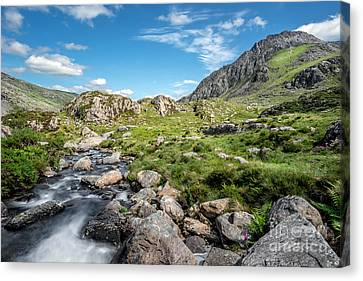 Cwm Idwal Canvas Print - Old River by Adrian Evans