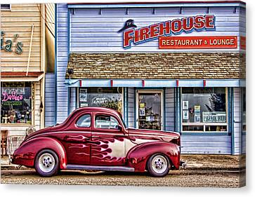 Old Roadster - Red Canvas Print by Carol Leigh
