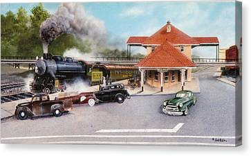 Old Rock Hill Depot   Sold Canvas Print